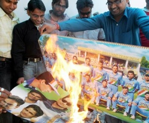 Anger of Cricket Fans during India's loss in WC 2003