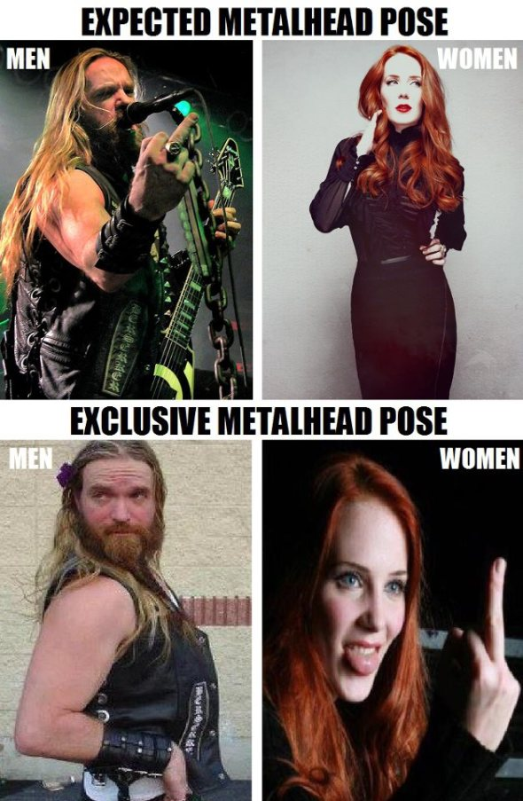 Metalhead Pose